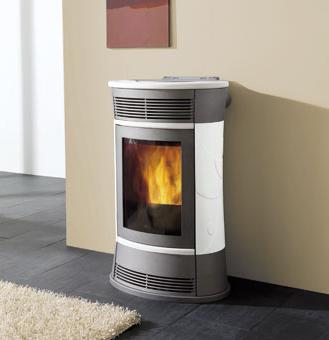 Energeo impianti termocamini stufe - Stufe a pellet per riscaldamento termosifoni ...